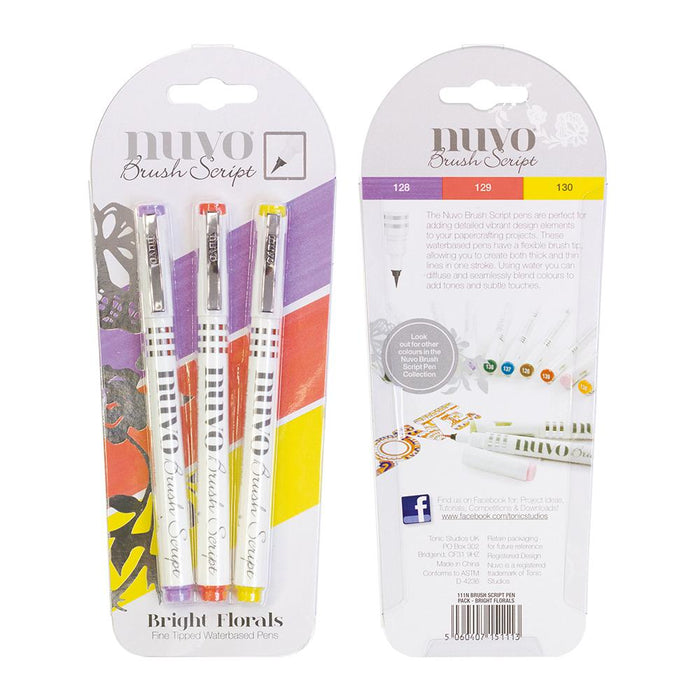 Nuvo - Brush Script Pens - Bright Florals - 111n - tonicstudios