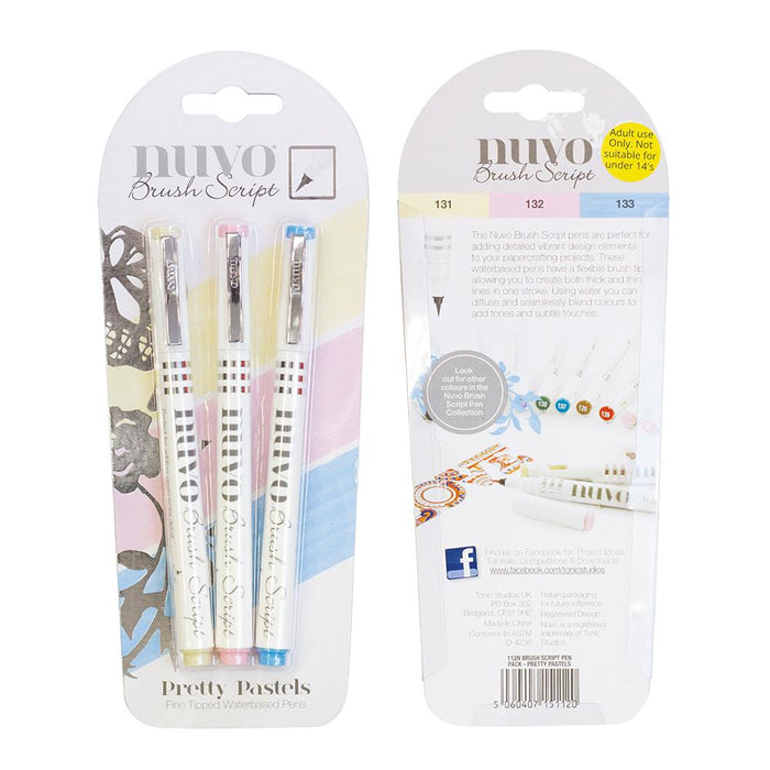 Nuvo - Brush Script Pens - Pretty Pastels - 112n - tonicstudios