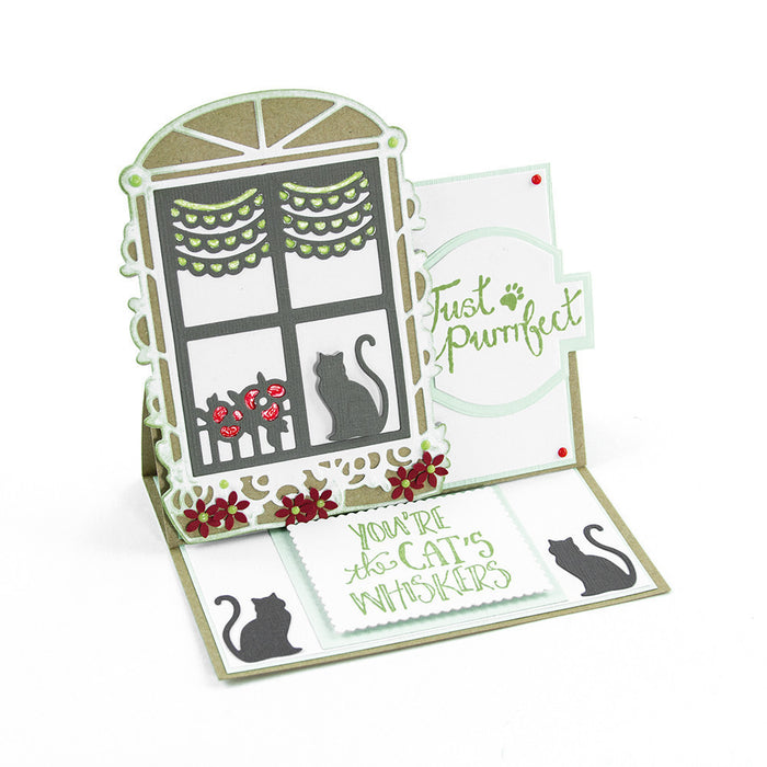 Tonic Studios - Pampered Pets - Toby's Sill Die Set - 1197e