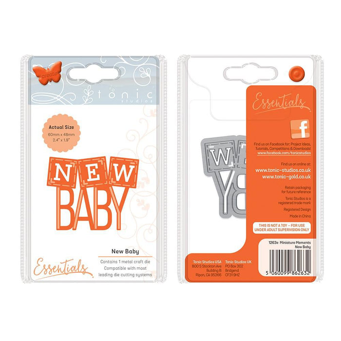 Tonic - Die - Miniature Moments - New Baby - 1263e