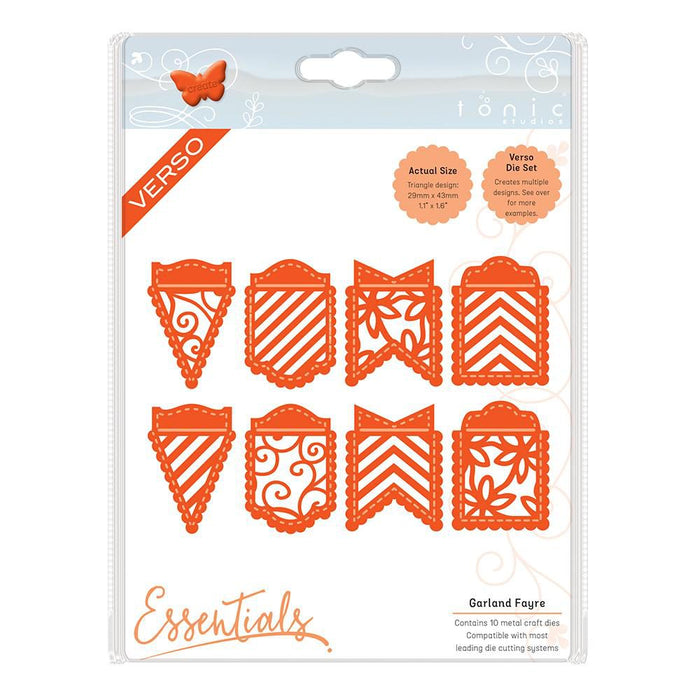 Tonic - Die - Decorative Bunting - Garland Fayre - 1266e