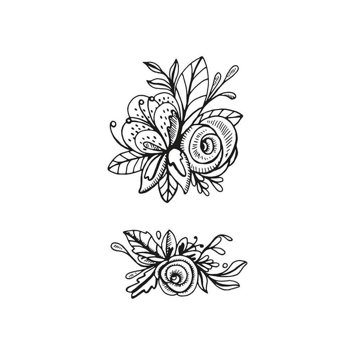 Tonic Studios - Stamps - Delicate Detail - Floral Flourish Stamp - 1338e