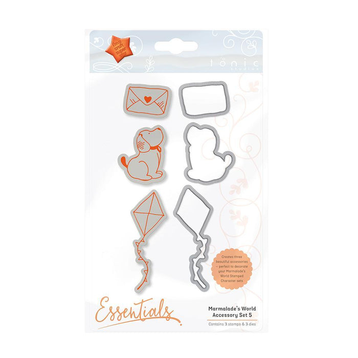 Tonic Studios - Stamps - Marmalade's World Stamp Set - Accessory Set 5 - 1353e