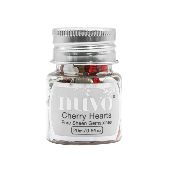 Nuvo - Pure Sheen Gemstones - Cherry Hearts - 1400n