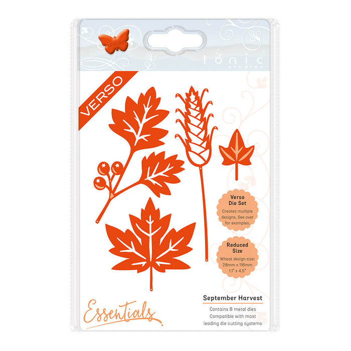 Tonic Studios - Autumn Leaves - September Harvest Die Set - 1432e