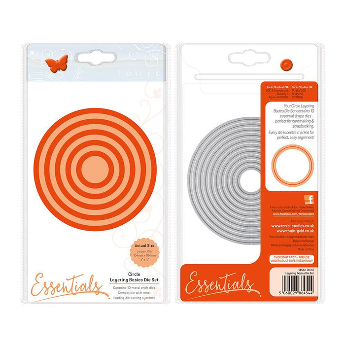 Tonic - Die - Layering Basics Die Set - Circle - 1454e
