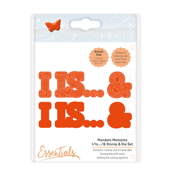 Tonic Studios - Mandala Moments - I, Is..., & Stamp & Die Set - 1547e