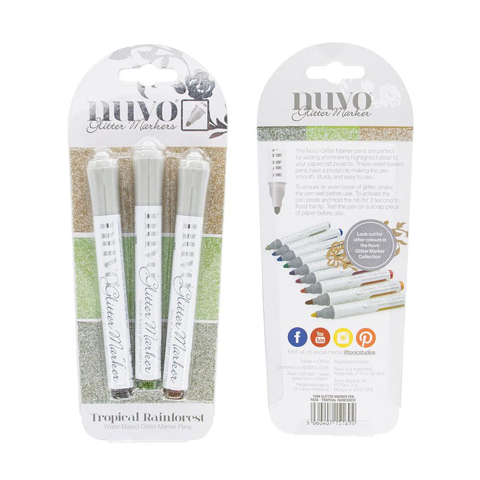 Nuvo - Glitter Markers - Tropical Rainforest - 169n