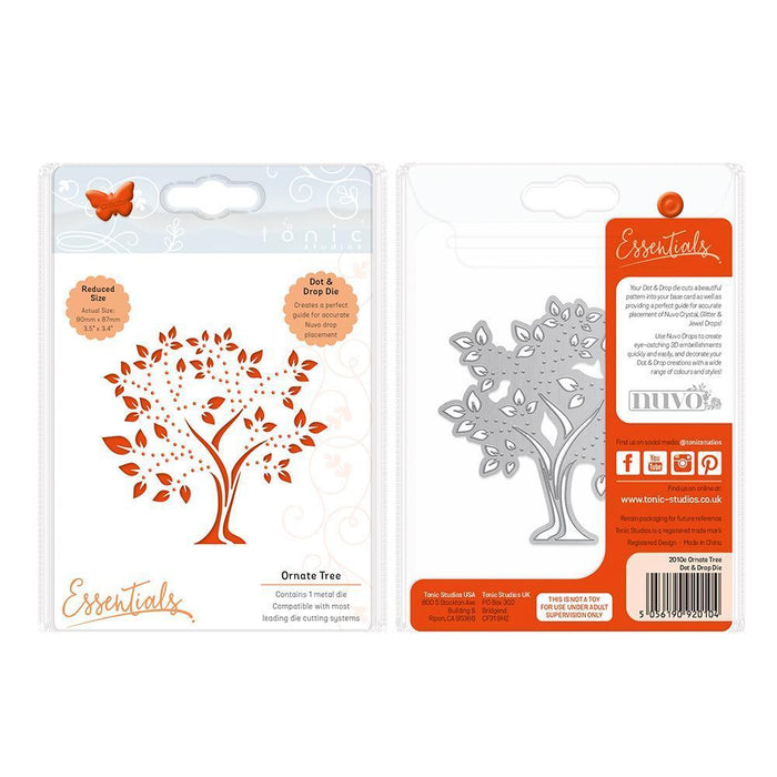 Essentials - Ornate Tree Dot & Drop Die - 2010E-Tonic Studios
