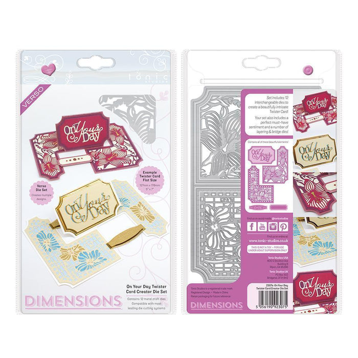 Dimensions - Tonic Studios - Dimensions - On Your Day Twister Card Die Set - 2307E