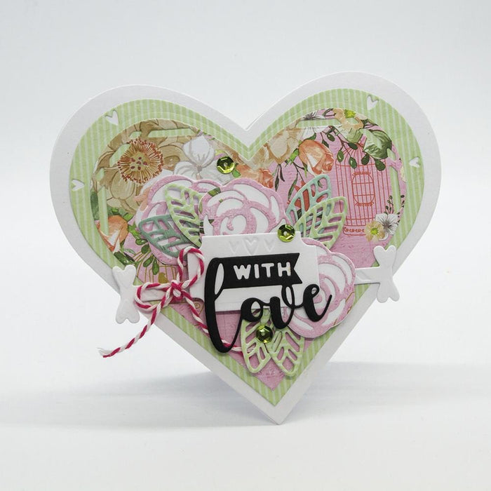 Tonic - Die - Dimensions - Diamond Cut Heart Box - 2549e