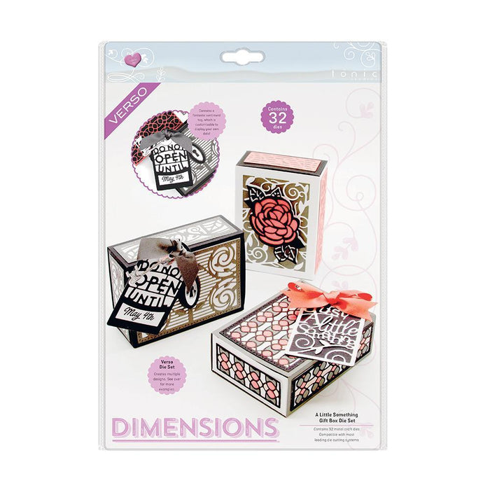 Dimensions - Tonic Studios - Gorgeous Gift Boxes - A Little Something Gift Box Die Set - 2554e