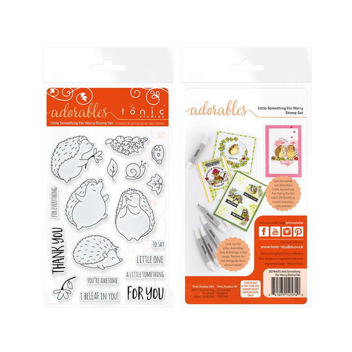 Tonic Studios - Adorables - Little Something For Harry Stamp Set- 2574e