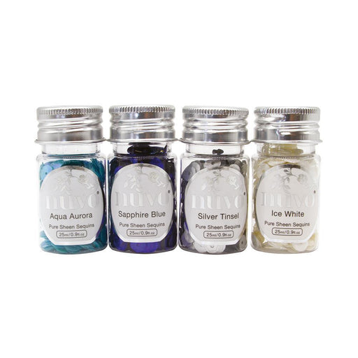 Nuvo - Pure Sheen 4 Pack - Let It Snow Sequins - 282N - tonicstudios