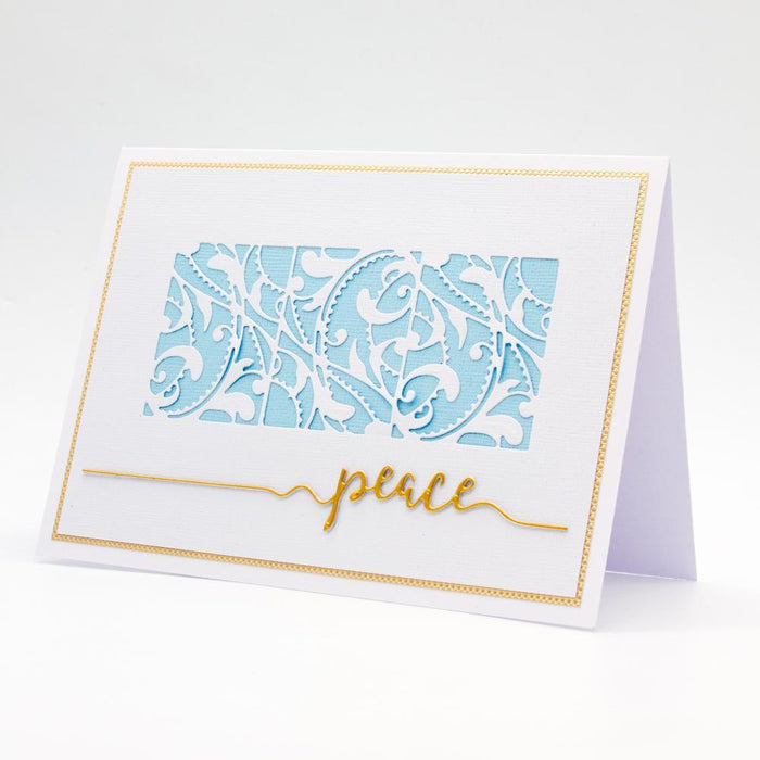Essentials - Tonic Studios - Essentials - Peace Sentiment Strip Die - 2852E