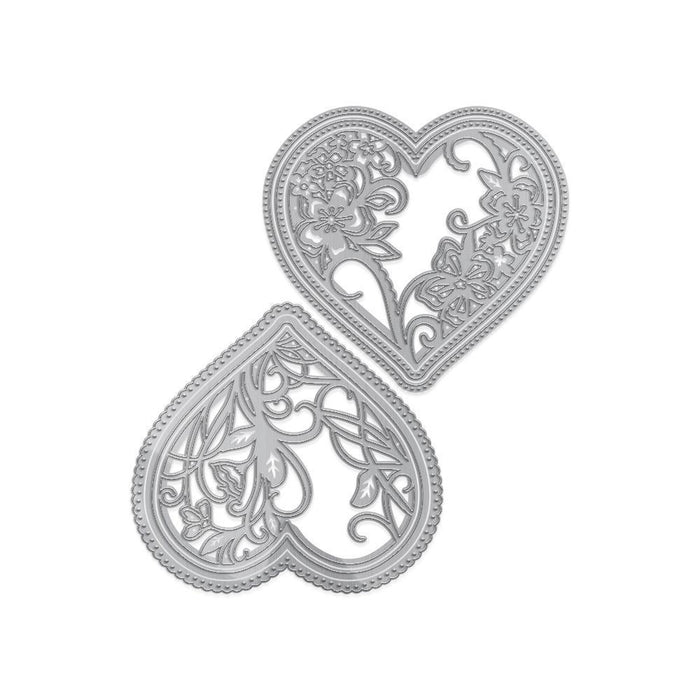 Essentials - Tonic Studios - Essentials - Embellished Heart Silhouettes - 2921E