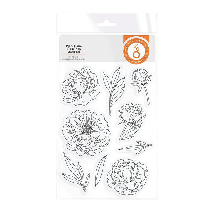 "Tonic Studios - Garden Party Stamps - Peony Bloom - 6""x 8"" / A5 - 3007e"