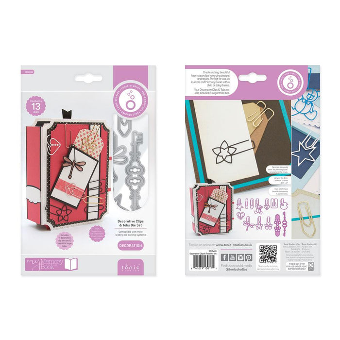 Tonic Studios - My Memory Book - Essentials - Decorative Clips and Tabs Die Set - 3017eUS