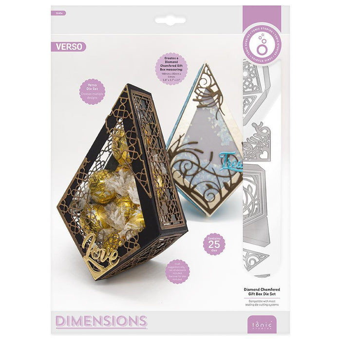 Tonic Studios - Diamond Chamfered Gift Box Die Set - 3045E