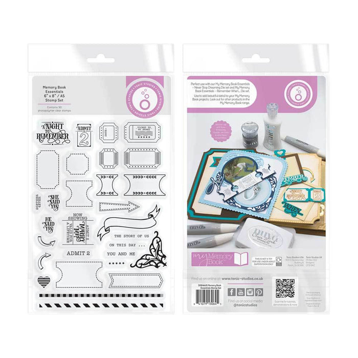 "Tonic Studios - My Memory Book - Essentials -  6"" x 8"" / A5 Stamp Set - 3064eUS"