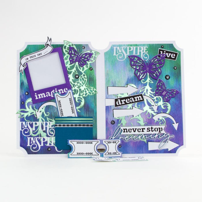 "Dimensions - Tonic Studios - Dimensions - Memory Book Essentials 6"" X 8"" / A5 Stamp Set - 3064E"