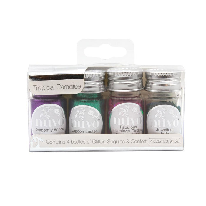 Nuvo Glitter - Nuvo - Pure Sheen 4 Pack - Tropical Paradise - 307n