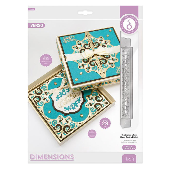 Tonic Studios - Dimensions - Celebration Album Maker Quatro Die Set - 3082e