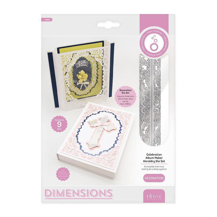 Tonic - Die - Dimensions - Celebration Album Maker Heraldry - 3083e