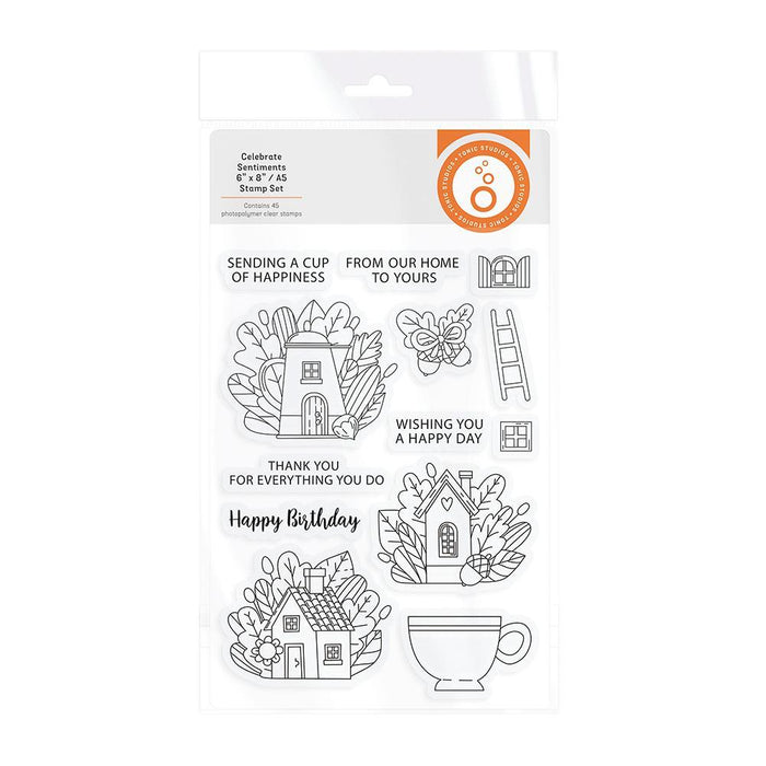 Tonic Studios - A Cup Of Happiness Stamp Set - 3244E