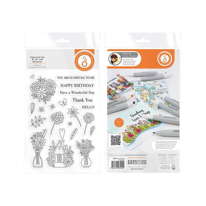 Tonic Studios - Flowers For You Stamp Set - 3245E