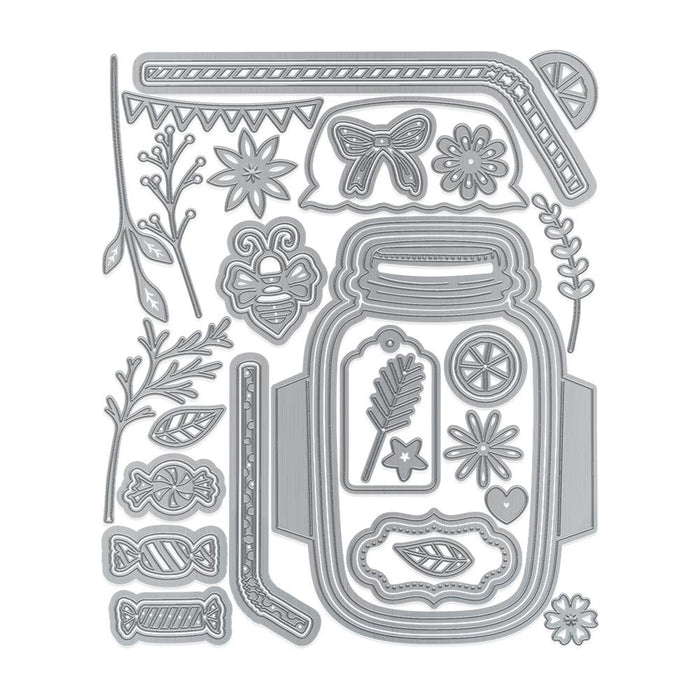 Tonic Studios - Mason Jar Die Set & Stamp - WED194