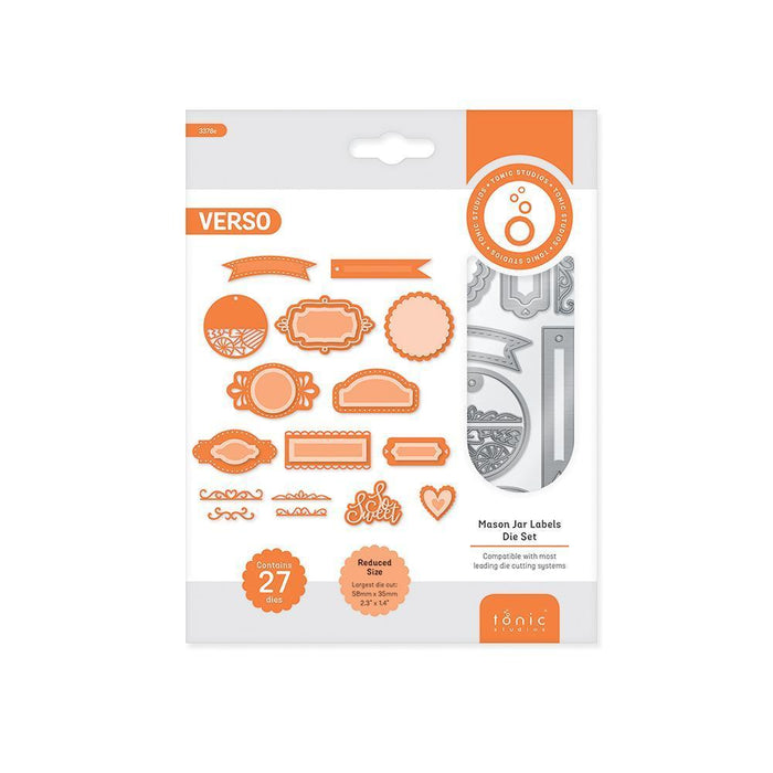 Die Cutting - Tonic Studios - Essentials - Jam Jar Labels Die Set - 3378E