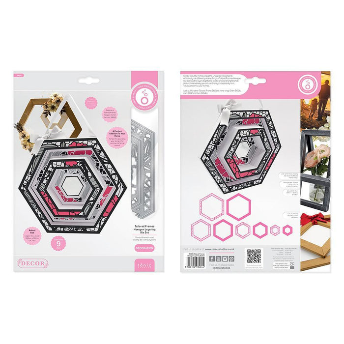 Tonic Studios - Tailored Frames - Hexagon Layering Die Set - 3464e