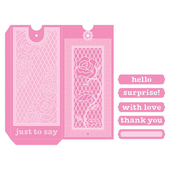 Tonic Studios - Single Rose Magic Sliding Skinny Envelope - 3673E