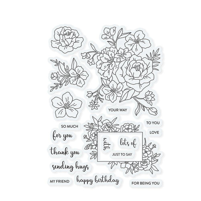 Stamp Club - Heartfelt Corsage - Stamp & Die Set - SC01