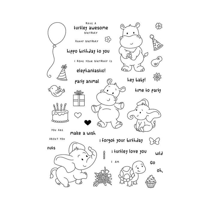 Stamp Club - Party Animals - Stamp & Die Set - SC02