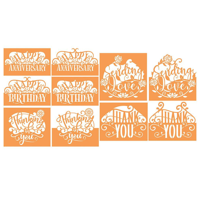 Tonic Studios - Header Sentiment Die Set Collection - Plus 4 FREE Card Packs - 268B