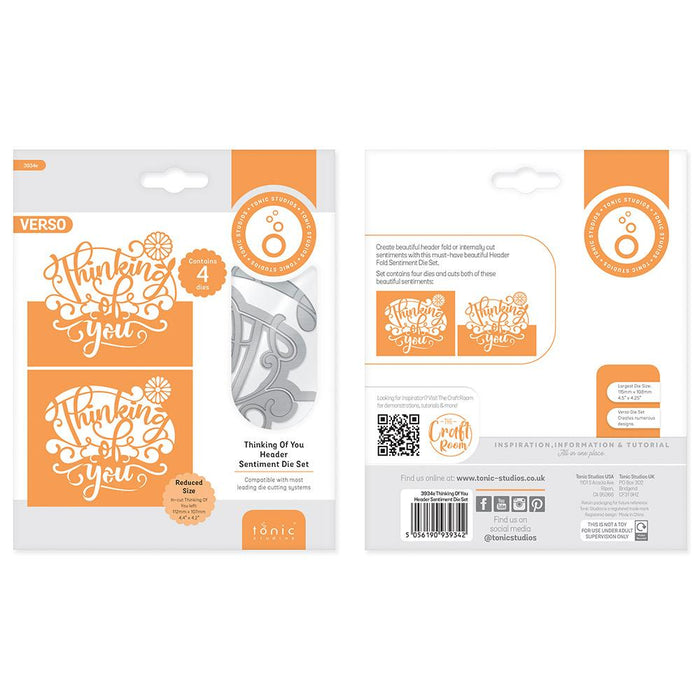 Tonic Studios - Thinking of You Header Fold Die Set - 3934E