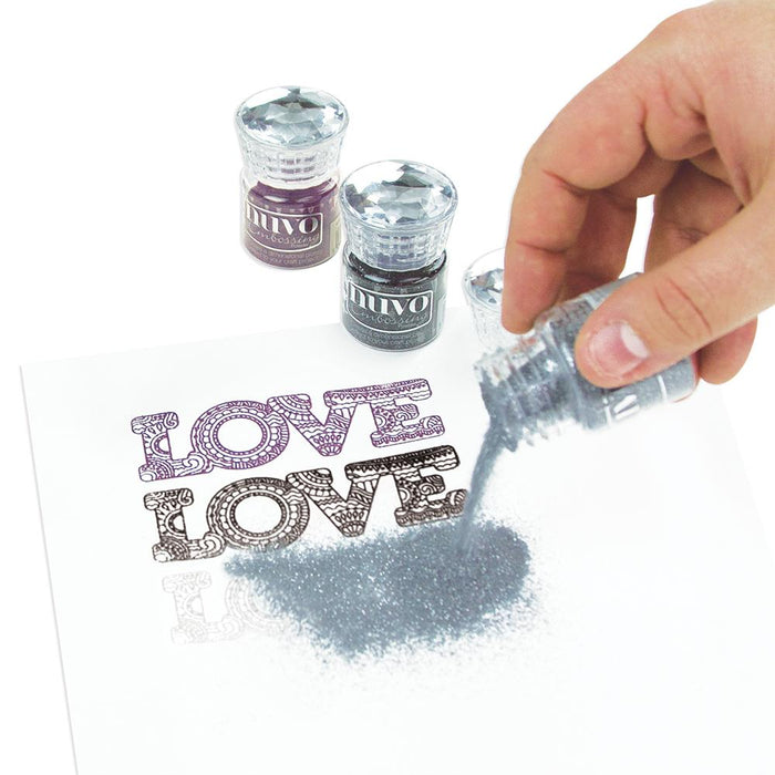 Nuvo - Embossing Powder - Glacier White - 602n - tonicstudios