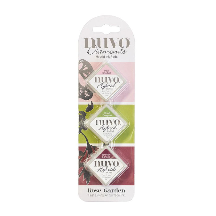 Nuvo - Diamond Hybrid Ink Pads - Rose Garden - 83n - tonicstudios