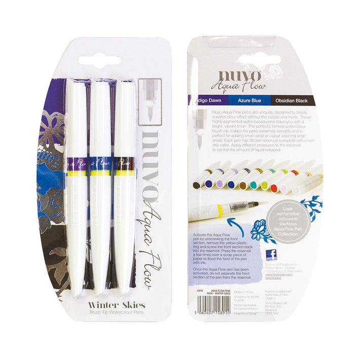 Nuvo - Aqua Flow Pens - Winter Skies - 891n - tonicstudios
