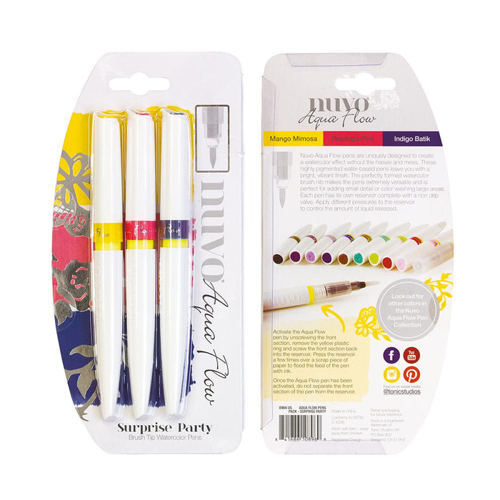 Nuvo - Aqua Flow Pens - Surprise Party - 896n - tonicstudios