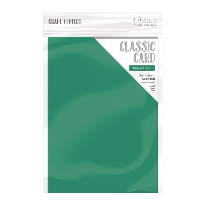 Craft Perfect - Classic Card  - Spearmint Green - Weave Textured - 8.5x11 (10/PK) - 9642e - tonicstudios