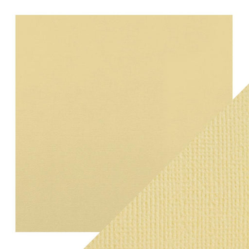 "Craft Perfect - Classic Card - Champagne - Weave Textured - 12"" x 12"" (5/Pk) - 9134e - tonicstudios"