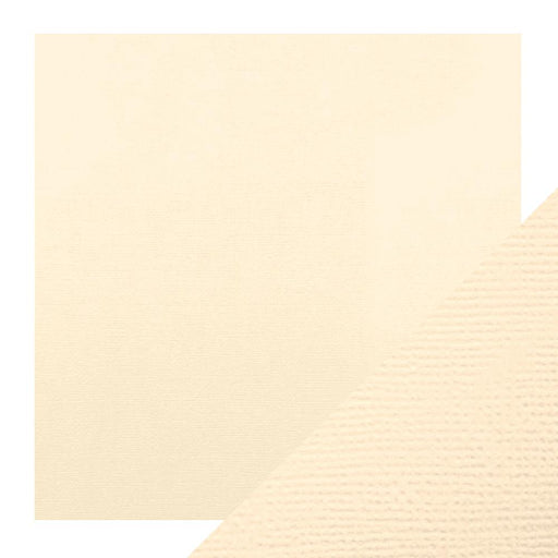 "Craft Perfect - Classic Card - Cream - Weave Textured - 12"" x 12"" (5/Pk) - 9135e - tonicstudios"
