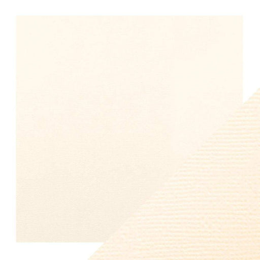 "Craft Perfect - Classic Card - Ivory White - Weave Textured - 12"" x 12"" (5/Pk) - 9136e - tonicstudios"