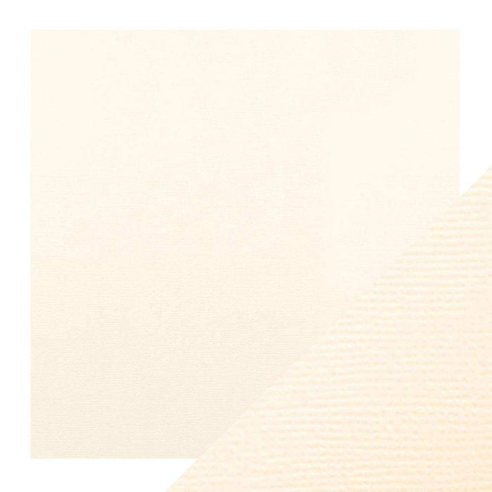 "Craft Perfect - Classic Card - Ivory White - Weave Textured - 12"" x 12"" (5/Pk) - tonicstudios"