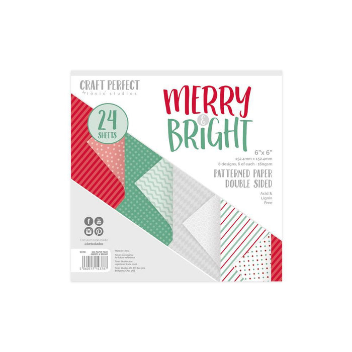Craft Perfect - 6x6 Card Packs - Merry & Bright - 9378e - tonicstudios