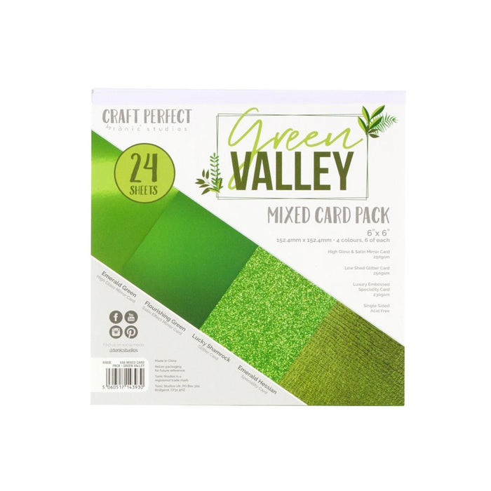 "Craft Perfect - 6""x6"" Card Packs - Green Valley - 9393e"