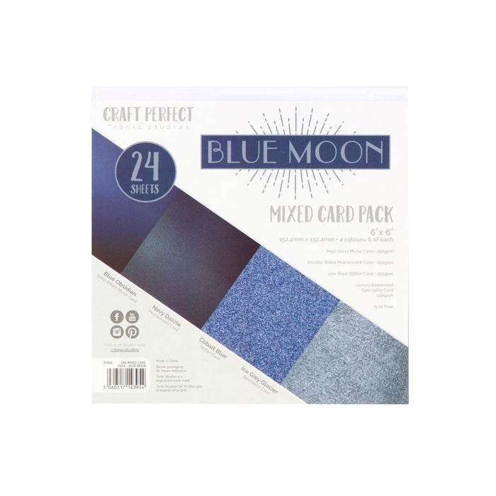 "Craft Perfect - 6""x6"" Card Packs - Blue Moon - 9395e"